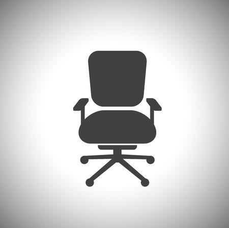 chaise de bureau icône Vecteurs