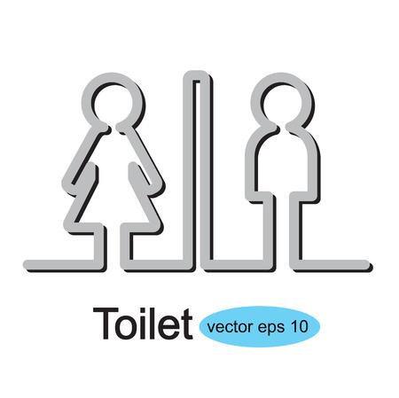 wc: Toilette Zeichen