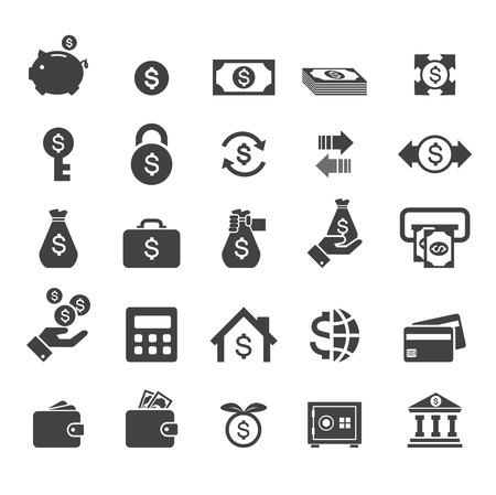 ahorros: dinero icono