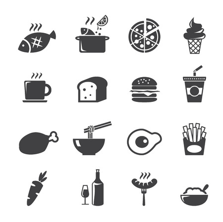 fried noodles: food icon Illustration