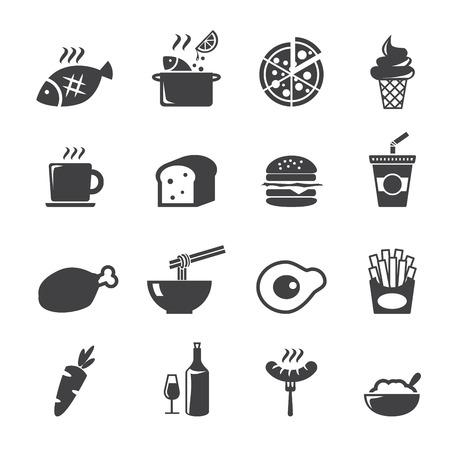 comida chatarra: icono de los alimentos Vectores
