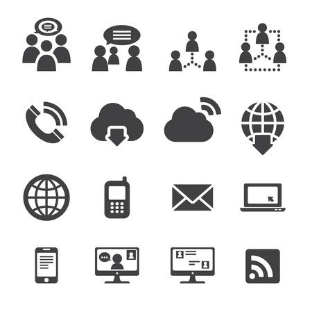 communication: communication icône Illustration