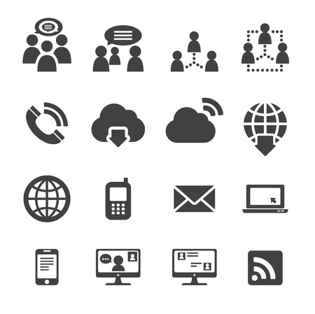wireless communication: communication icon