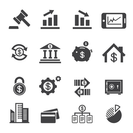 business and finance icon Illustration