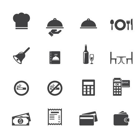 Iconos de restaurantes Foto de archivo - 32363651