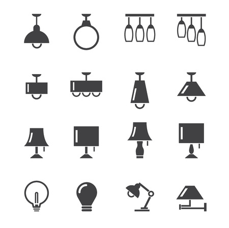 lamp power: lamp icon Illustration