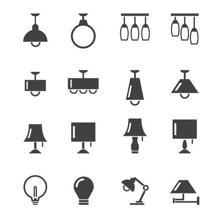 lamp icon Ilustracja