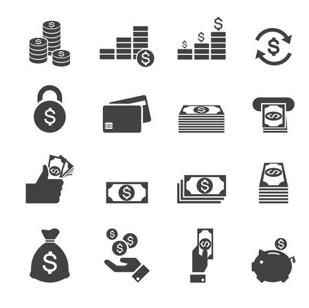banco dinero: dinero icono