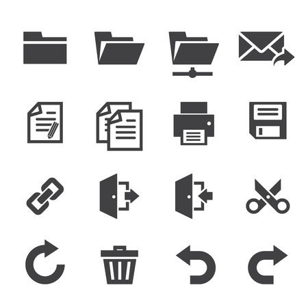 log out: Application toolbar icons
