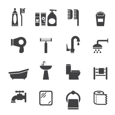 cleaning bathroom: bathroom icon Illustration