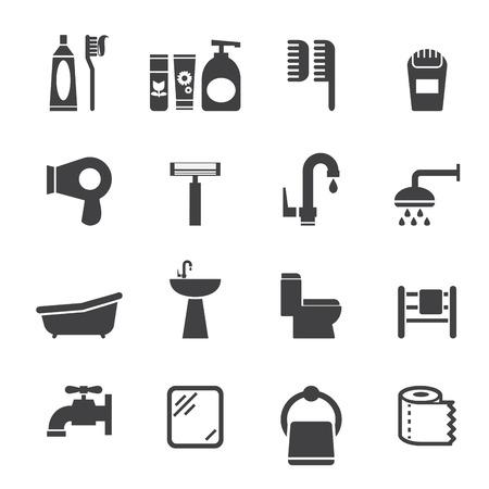 bathroom icon Vectores