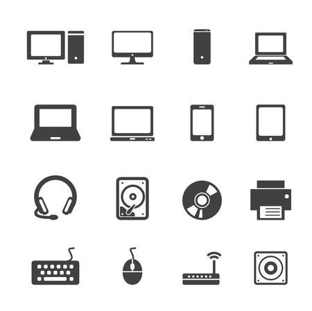 disco duro: equipo conjunto de iconos