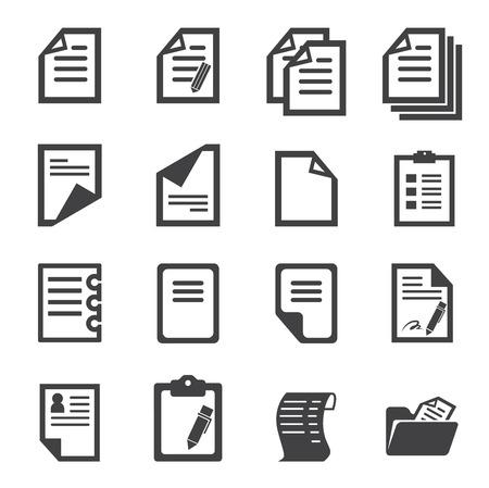 documentos: icono de papel Vectores