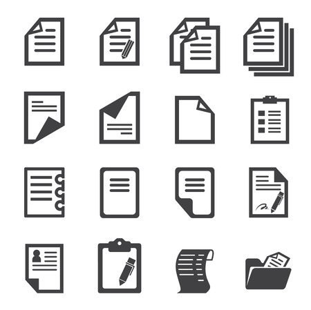 internet icons: paper icon Illustration