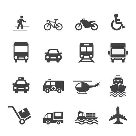Transportation Icon 일러스트