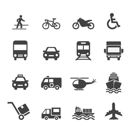 Transportation Icon Ilustrace