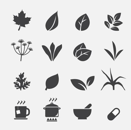 taza de t�: icono de hierba