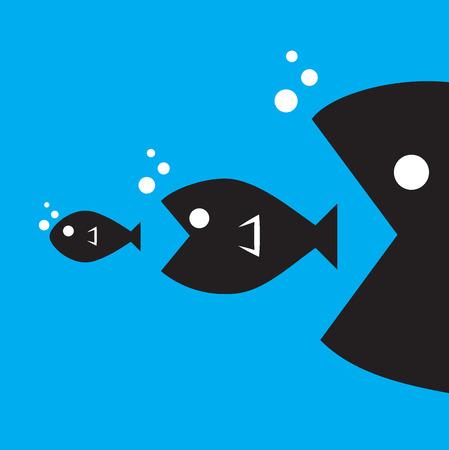 大きな魚が小さな魚を食べる 写真素材 - 32363690