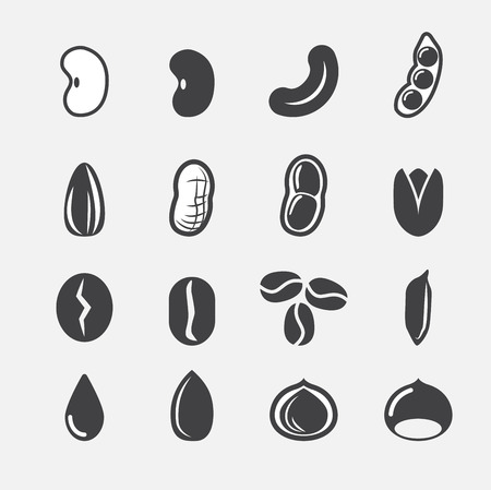 beans and rice: nut and seed icon