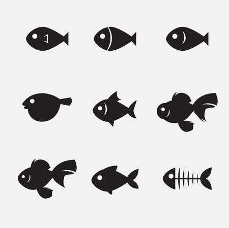 fish tail: fish icon