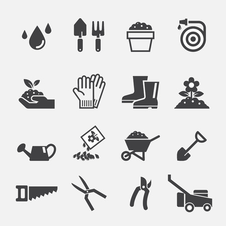 soil: gardening icon Illustration
