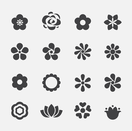simple flower: flower icon