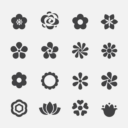 florales: icono de flor Vectores