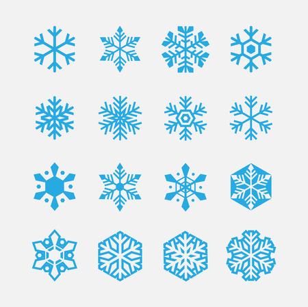 snowflake set: snowflakes icons set