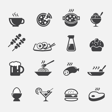continental food: food icon Illustration