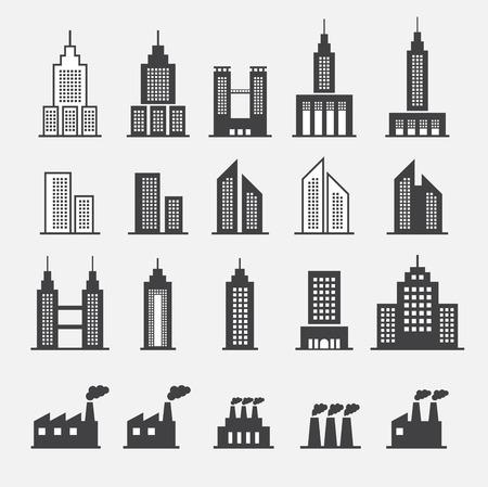 headquarter: building icon Illustration
