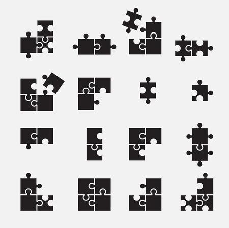 jigsaw set: puzzle symbol Illustration