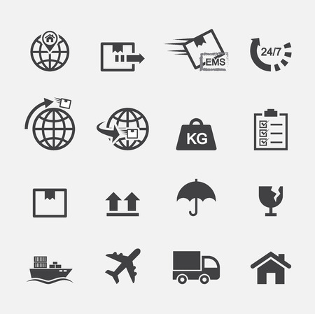 shipping by air: shipping icon