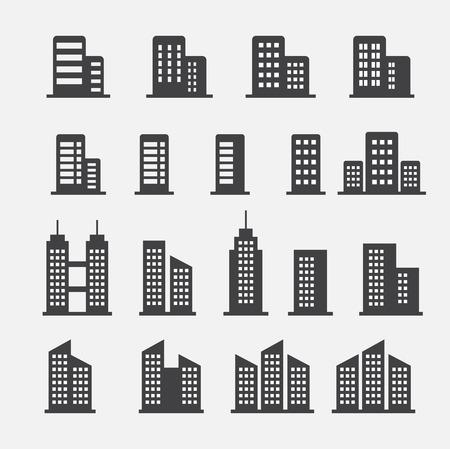 consultorio: icono de edificio de oficinas Vectores