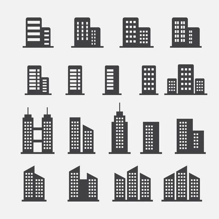 modern office: office building icon
