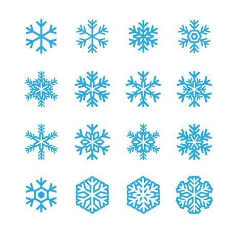 snowflake set: snowflakes icon Illustration