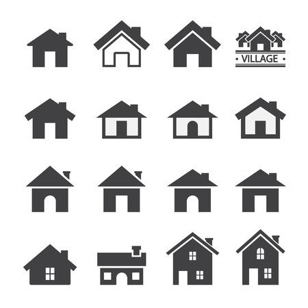 silhouette maison: icône maison Illustration