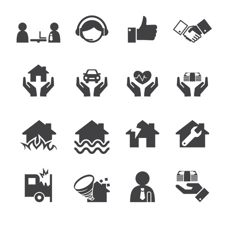call center icon: Insurance icons