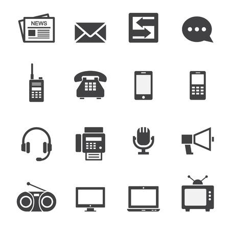 통신: 통신 아이콘 일러스트