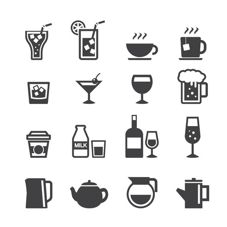 icon nápoj set Ilustrace