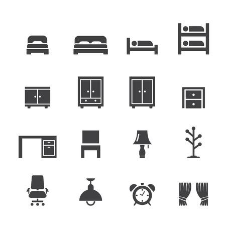 closet: bed room icon