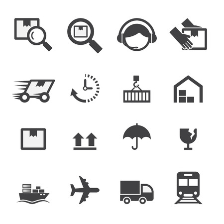 industrial ship: shipping icon