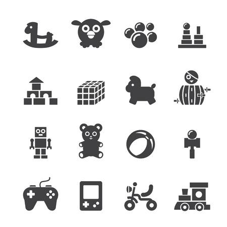 remote control: toy icon set Illustration