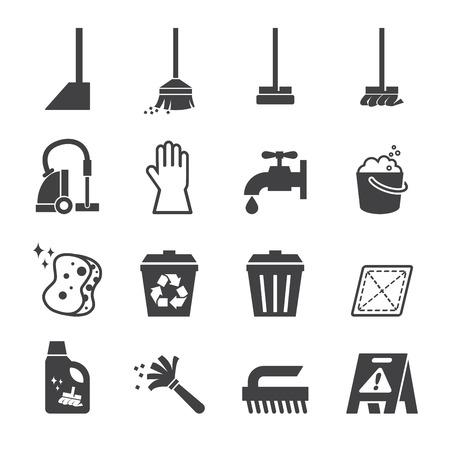 zwabber: reiniging pictogram