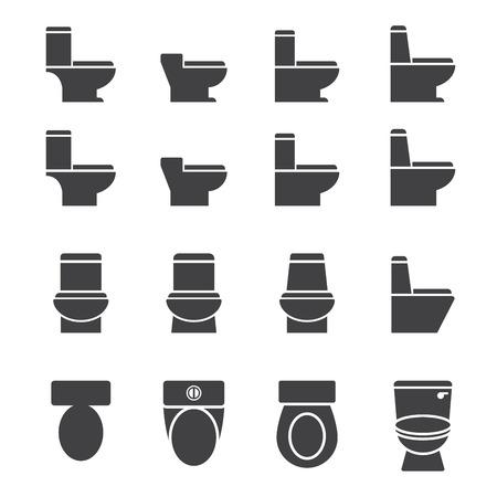 water closet: water closet icon set