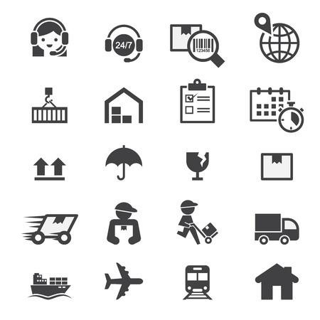storage box: shipping icon set Illustration