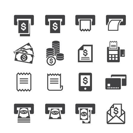 credit card bills: bill and money icon Illustration