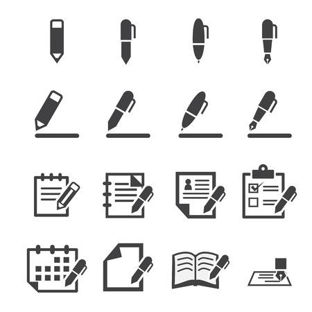 schriftelijk pictogram Stock Illustratie