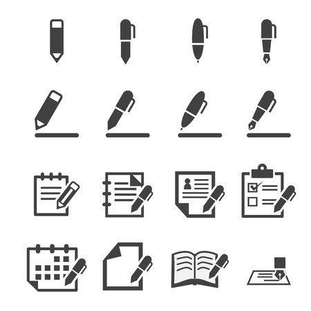 article writing: writing icon
