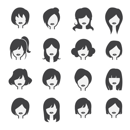 hairstyles: woman icon Illustration