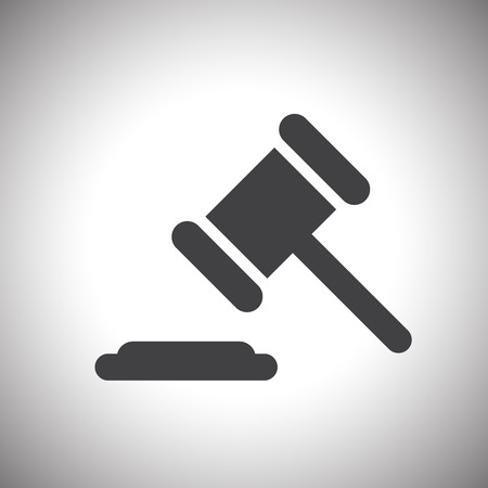 defendant: judge or auction hammer icon